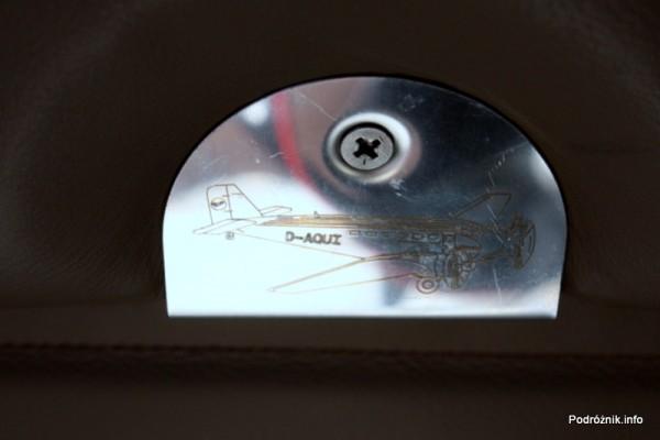Junkers Ju52/3m - D-AQUI - D-CDLH - znaczek przykręcony do siedzenia