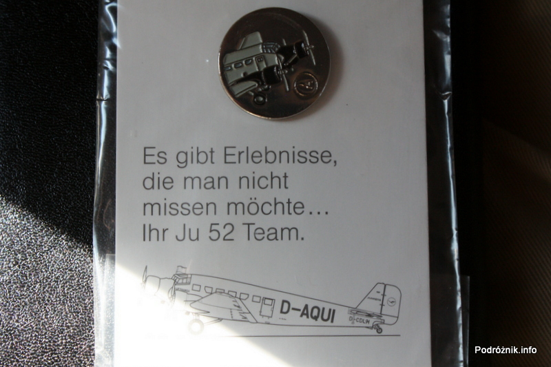 Junkers Ju52/3m - D-AQUI - D-CDLH - pamiątkowe znaczki