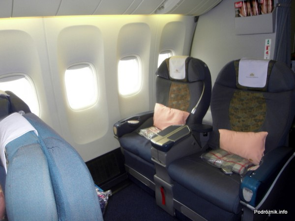 Vietnam Airlines - Boeing 777 - wnętrze - klasa biznes