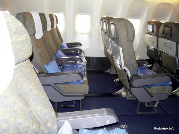 Vietnam Airlines - Boeing 777 - wnętrze - klasa ekonomiczna deluxe