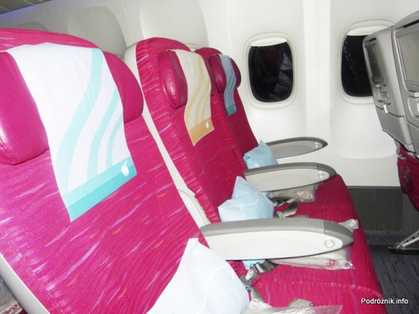Qatar Airways - Boeing 777 - A7-BAA - fotele klasy ekonomicznej