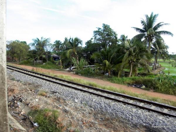 Tajlandia - maj 2012 - widok z pociągu pomiędzy Bangkok a Aranyaprathet
