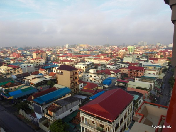 Kambodża - Phnom Penh - maj 2012 - widok z okna hotelu