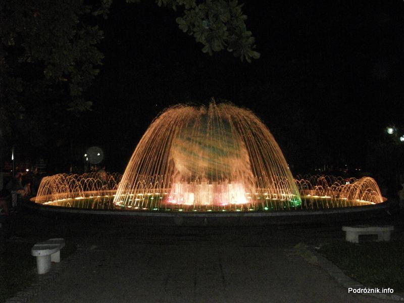 Wietnam - Nha Trang - maj 2012 - podświetlona fontanna nocą