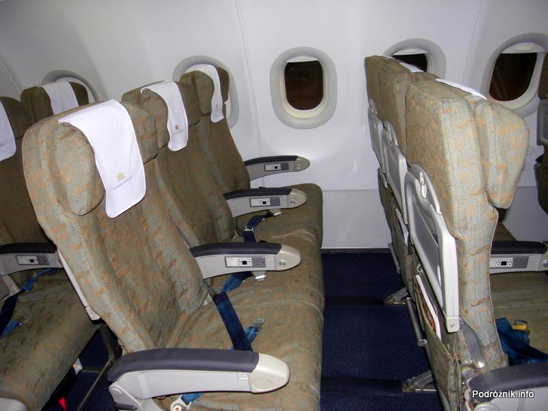 Vietnam Airlines - Airbus 321- VN-A356 - wnętrze - kabina klasa ekonomiczna