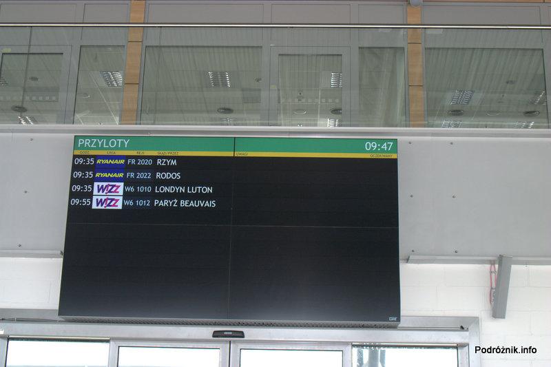 Lotnisko Modlin - tablica przylotów