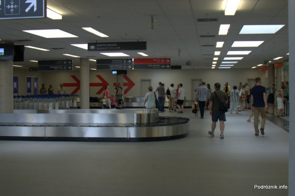 Lotnisko Modlin - hala odbioru bagażu
