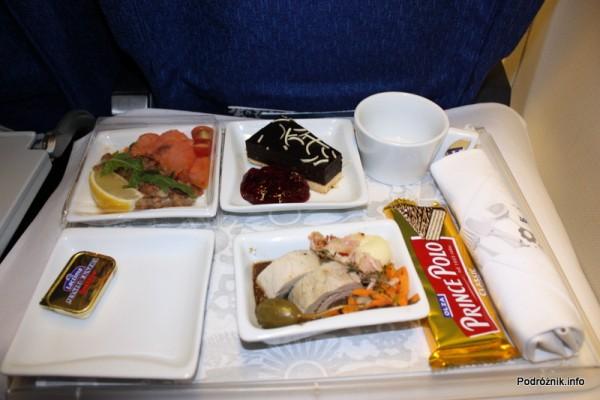 Polskie Linie Lotnicze LOT - Boeing 737-500 - SP-LKE - ciepły posiłek