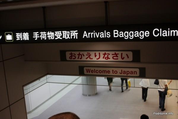 Japonia - Port lotniczy Tokio Narita - witamy w Japonii - sierpień 2012