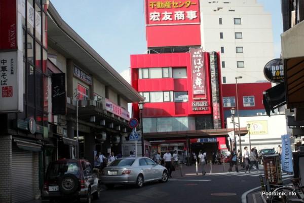 Japonia - Narita - dworzec kolejowy po lewej stronie - sierpień 2012