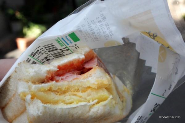 Japonia - Narita - kanapka z serem, szynką i ziemniakiem - sierpień 2012