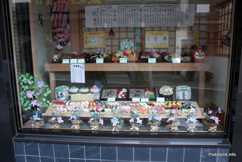 Japonia - Narita - sushi - wystawa restauracji - sierpień 2012