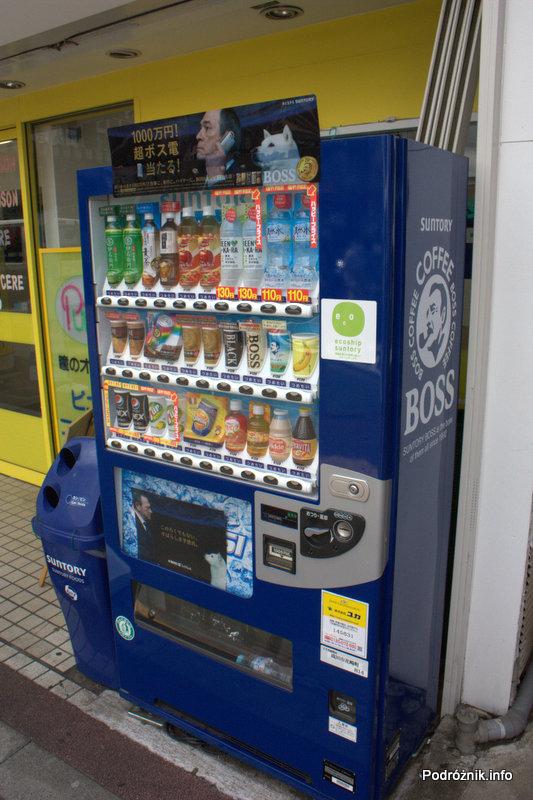Japonia - Narita - automat z napojami - sierpień 2012