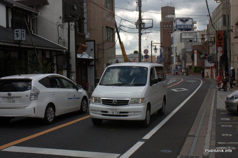 Japonia - Narita - samochody na ulicy - sierpień 2012