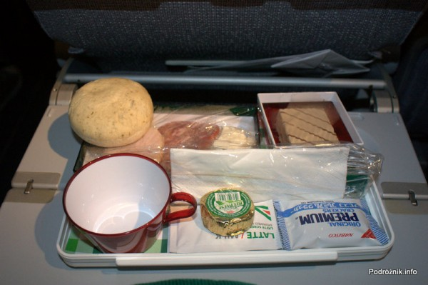 Alitalia - Boeing 777 - I-DISA - kolacja - sierpień 2012