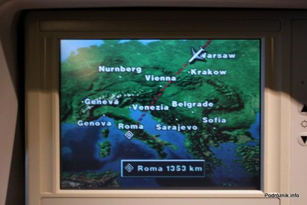 Alitalia - Boeing 777 - I-DISA - trasa przelotu Tokio-Rzym biegnie nad Polską - sierpień 2012