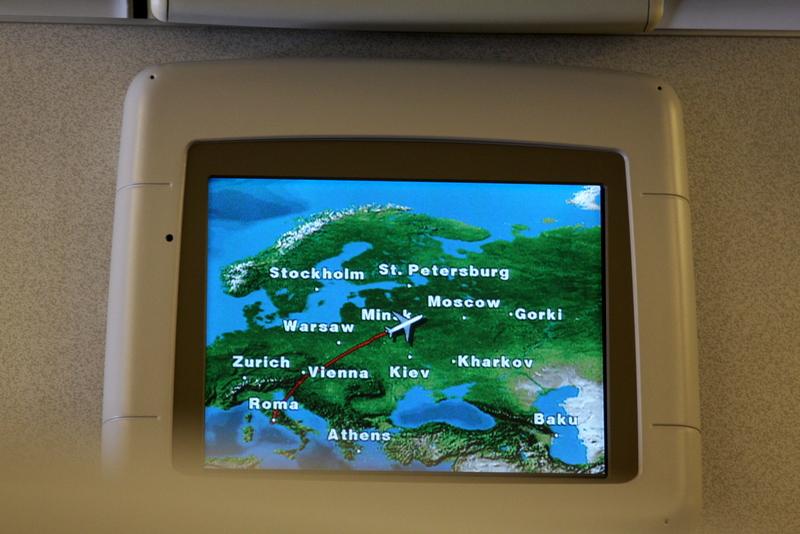 Alitalia - Boeing 777 - I-DISU - trasa przelotu nad Europą