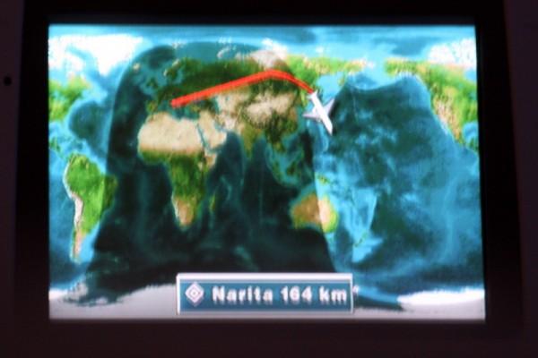 Alitalia - Boeing 777 - I-DISU - rzeczywista trasa przelotu z Rzymu do Tokio