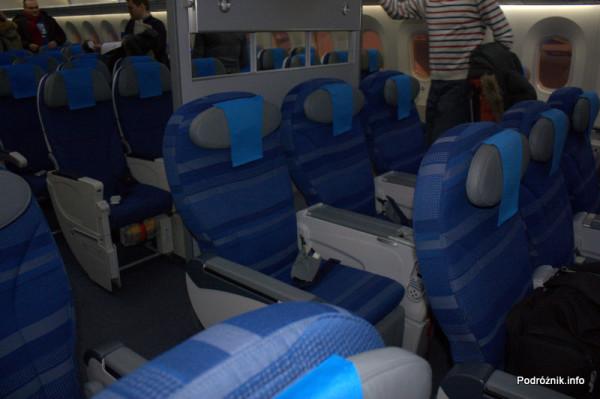 Polskie Linie Lotnicze LOT - Boeing 787 Dreamliner - SP-LRA - fotele w klasie ekonomicznej plus (Premium Club)