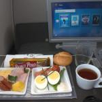 Polskie Linie Lotnicze LOT - Boeing 787 Dreamliner - SP-LRA - klasa biznes (Elite Club) - jedzenie na pokładzie samolotu