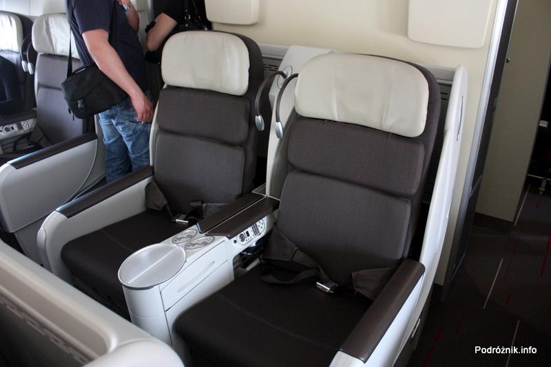 Air France - Airbus 380 - AF1980 - F-HPJB - fotele klasy biznes w środkowym rzędzie