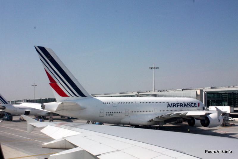 Air France - Airbus 380 - AF1980 - F-HPJB - widok na pierwszego Super Jumbo (F-HPJA) dostarczonego tej linii lotniczej