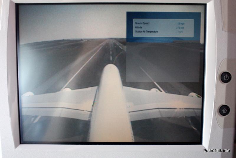 Air France - Airbus 380 - AF1980 - F-HPJB - widok z kamery na ogonie podczas startu z parametrami lotu