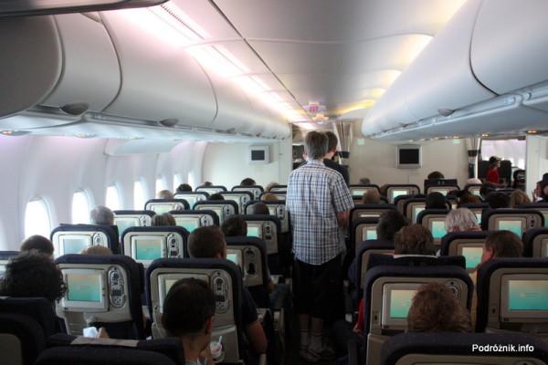 Air France - Airbus 380 - AF1980 - F-HPJB - klasa ekonomiczna na dolnym pokładzie