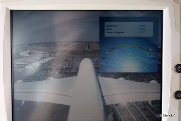 Air France - Airbus 380 - AF1980 - F-HPJB - widok z kamery na ogonie na początek pasa startowego tuż przed lądowaniem