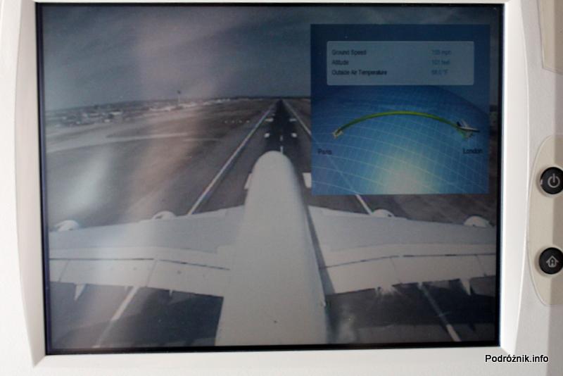 Air France - Airbus 380 - AF1980 - F-HPJB - widok z kamery na ogonie podczas przyziemiania