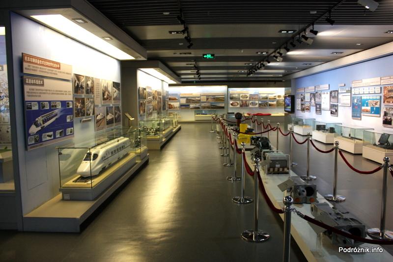 Chiny - Pekin - wnętrze Muzeum Kolejnictwa - kwiecień 2013