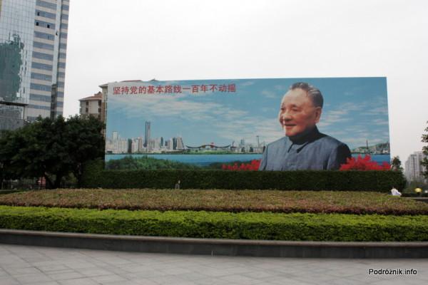 Chiny - Shenzhen - wielki billboard przedstawiający Deng Xiaopinga - kwiecień 2013