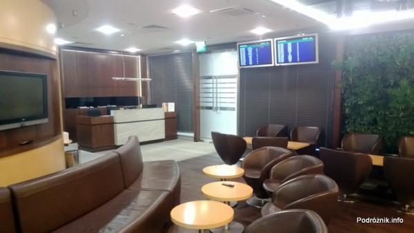 Polska - Warszawa - Lotnisko Chopina - Salonik Executive Lounge Ballada - recepcja - kwiecień 2013