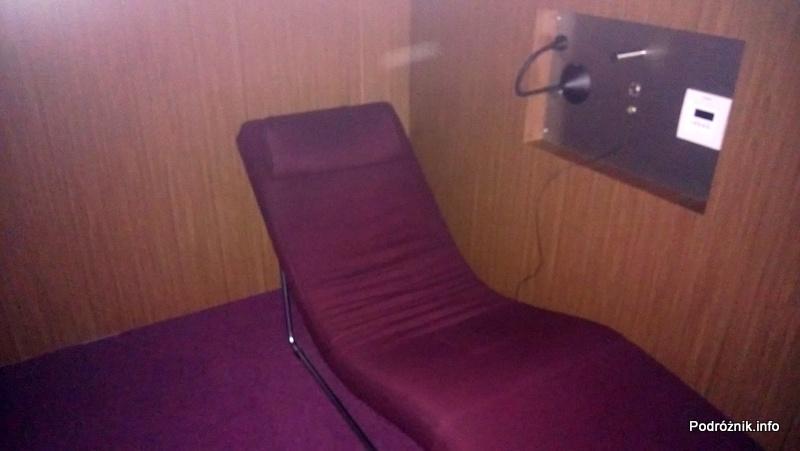 Holandia - Amsterdam - Lotnisko Schiphol - KLM Crown Lounge - fotel do spania w cichym pomieszczeniu - kwiecień 2013