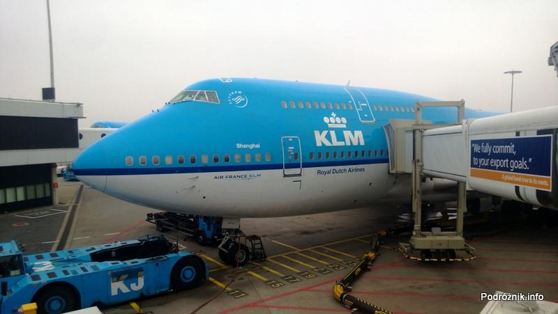 KLM Royal Dutch Airlines - Boeing 747-400 Combi - KL897 - PH-BFW - przód samolotu