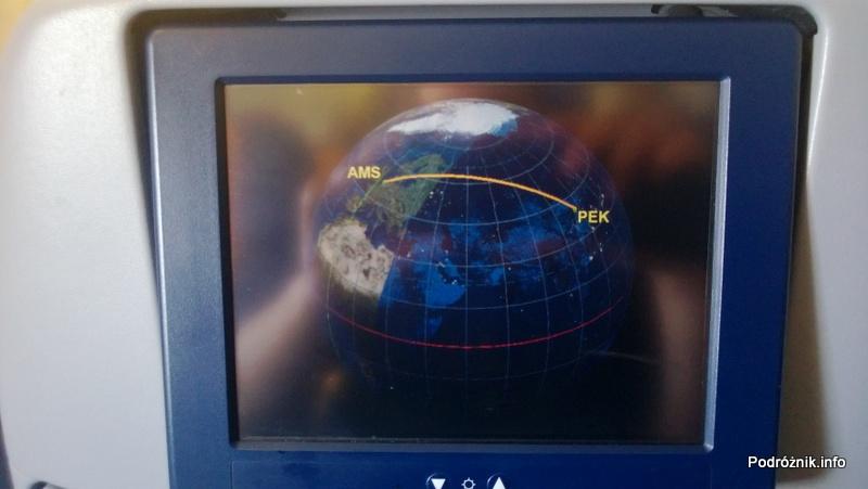 KLM Royal Dutch Airlines - Boeing 747-400 Combi - KL897 - PH-BFW - planowana trasa przelotu na globie