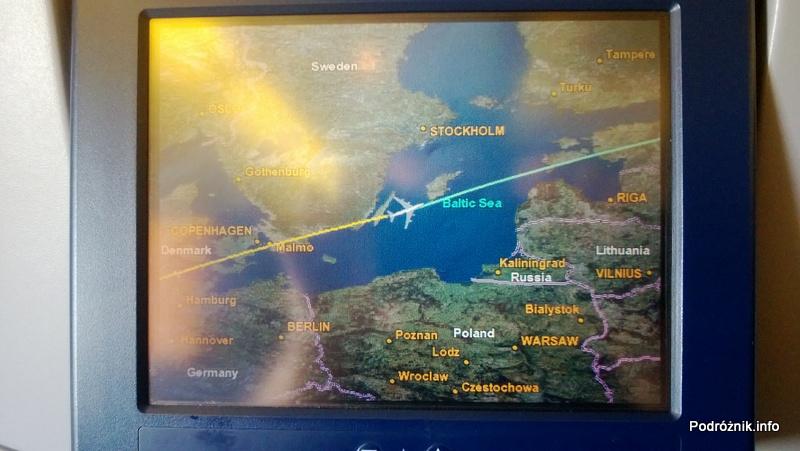 KLM Royal Dutch Airlines - Boeing 747-400 Combi - KL897 - PH-BFW - przelot na Bałtykiem - kwiecień 2013