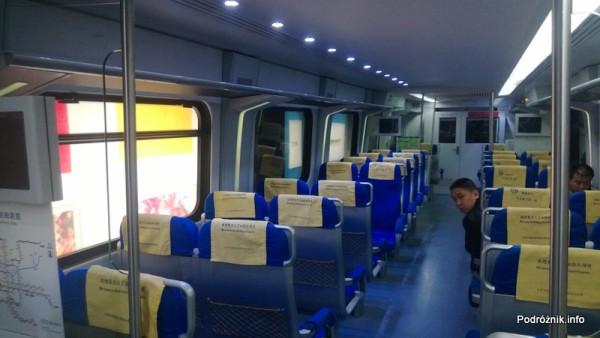 Chiny - Pekin - wnętrze wagonu Airport Express - kwiecień 2013