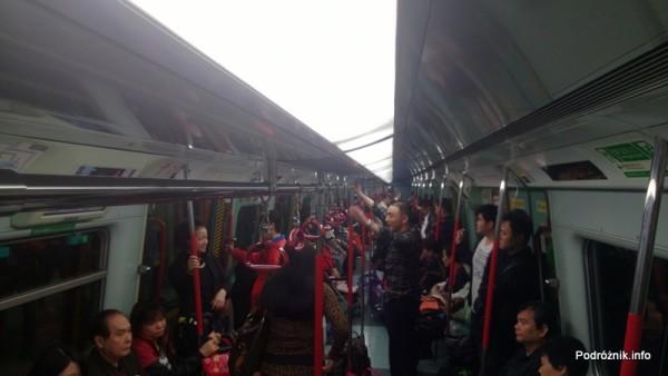 Hongkong - wnętrze wagonu metra - kwiecień 2013