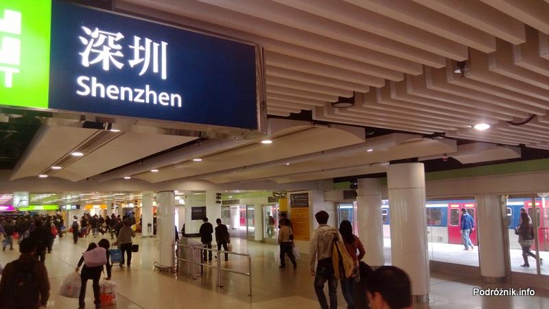 Hongkong - stacja metra Lo Wu - kwiecień 2013