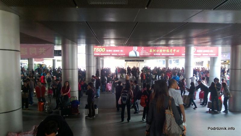 Chiny - Shenzhen - stacja metra Luohu - na zewnątrz