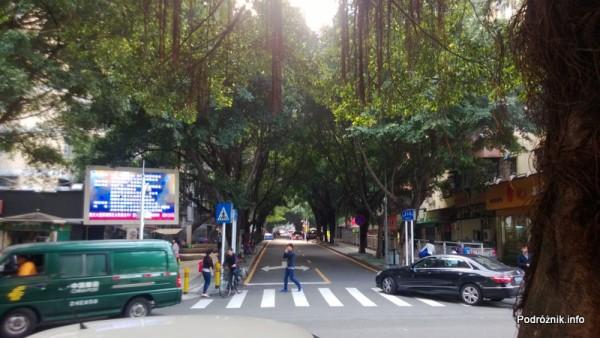 Chiny - Shenzhen - mała zielona uliczka - kwiecień 2013