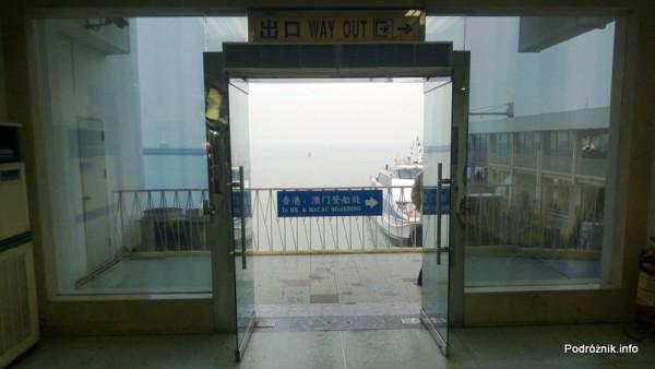 Chiny - prom z Shenzhen do Makao - kwiecień 2013
