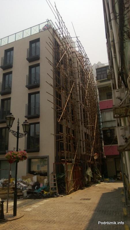 Chiny - Makao - bambusowe rusztowanie - kwiecień 2013