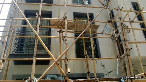 Chiny - Makao - rusztowanie bambusowe - kwiecień 2013