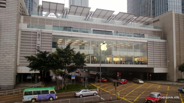 Chiny - Hongkong - sklep Apple nad drogą - kwiecień 2013