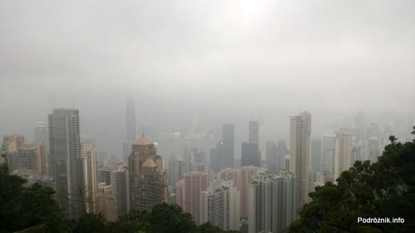Chiny - Hongkong - Wzgórze Wiktorii (The Peak) - panorama miasta - kwiecień 2013