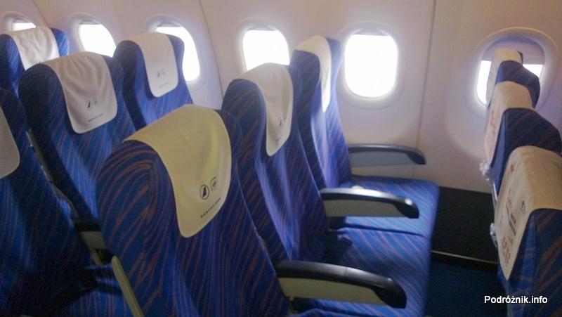 China Southern - Airbus 321 - CZ309 - B-6318 - Klasa ekonomiczna - Economy Class - wnętrze - odstęp między siedzeniami - kwiecień 2013