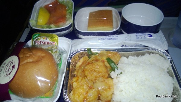 China Southern - Airbus A330 - CZ345 - B-6500 - Klasa ekonomiczna (Economy Class) - jedzenie w samolocie - kwiecień 2013