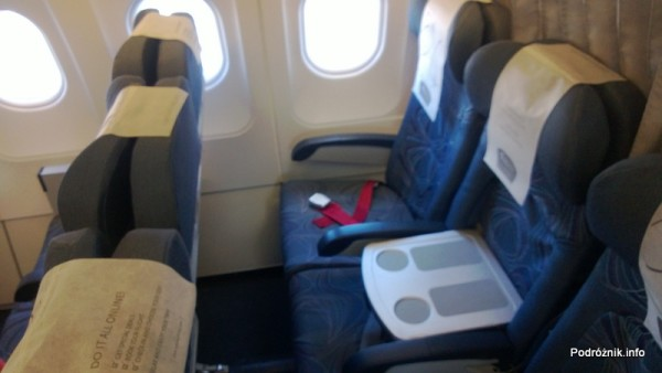 CSA Czech Airlines - CSA Czeskie Linie Lotnicze - Airbus A319 - OK-MEK - OK617 - Klasa biznes - fotele ze stolikiem między nimi - kwiecień 2013
